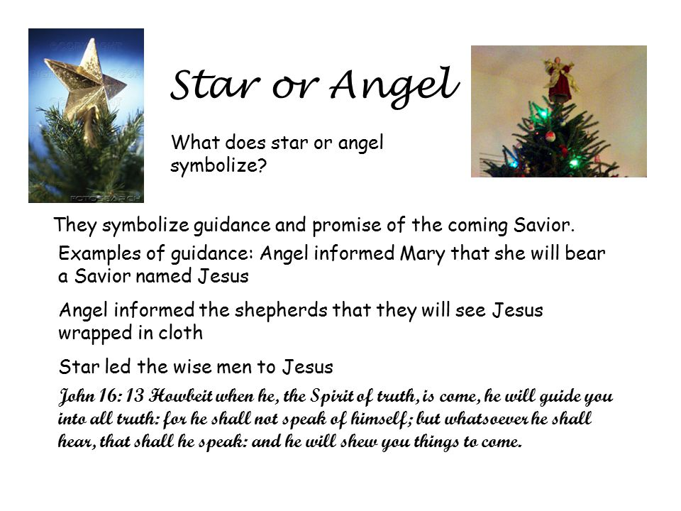 Star or Angel What does star or angel symbolize.