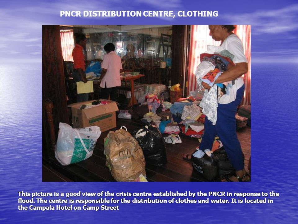 This picture is a good view of the crisis centre established by the PNCR in response to the flood.