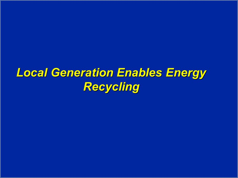 What is Recycled Energy.