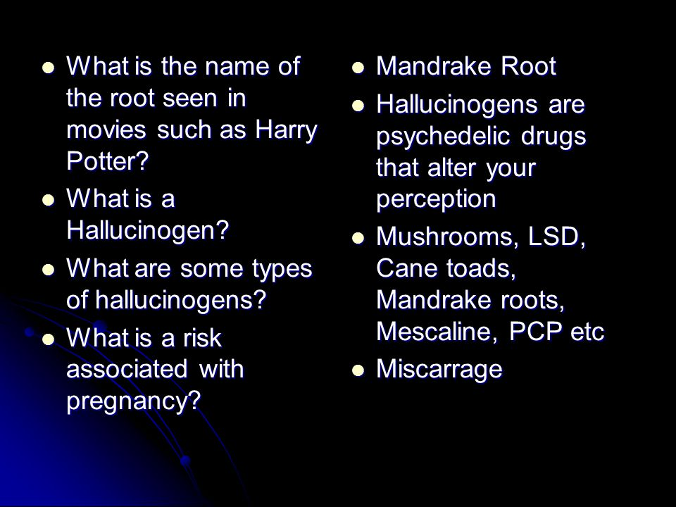 What is the name of the root seen in movies such as Harry Potter.