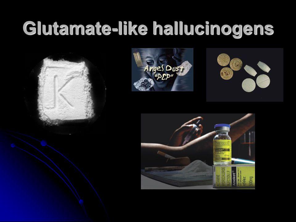 Glutamate-like hallucinogens