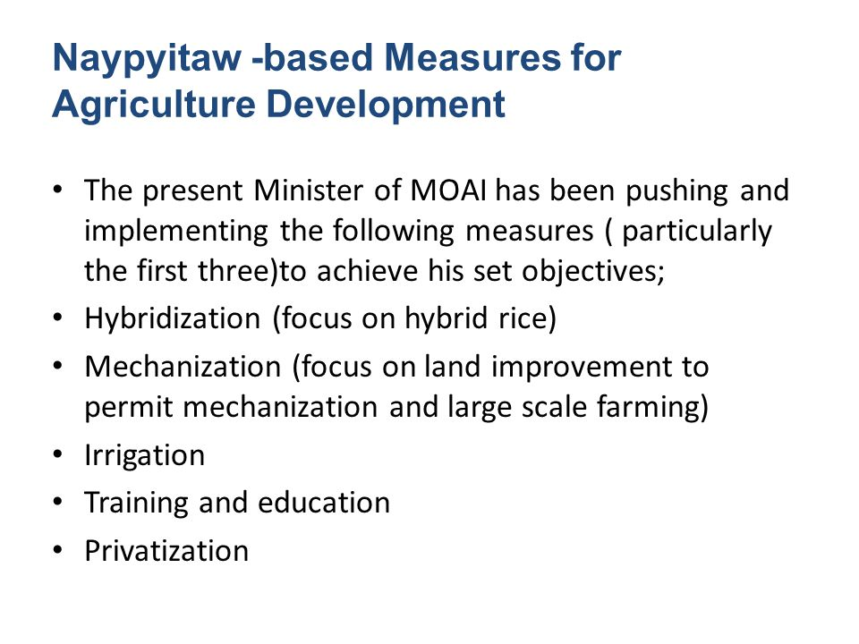 Institutional Transformation over Years From the post independent years to mid-socialist period, agriculture sector was under the policy guidance and jurisdiction of the Ministry of Agriculture and Forest.