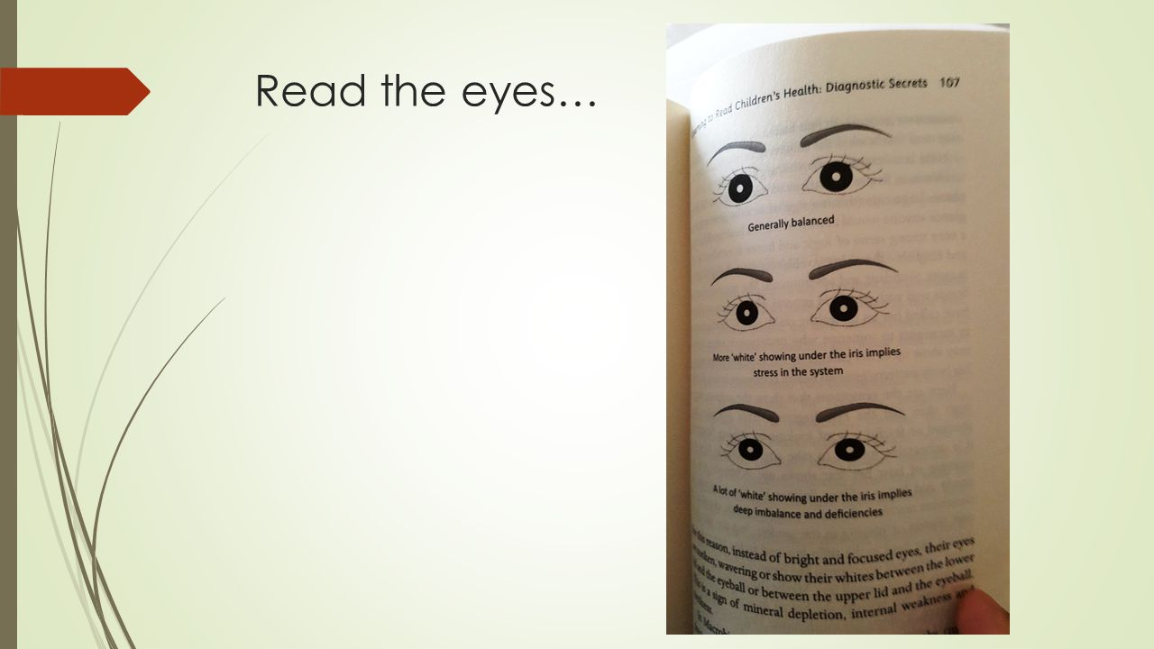 Read the eyes…