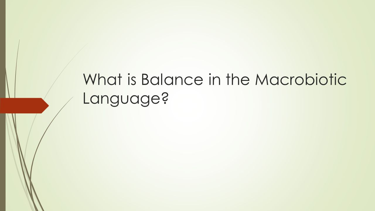 What is Balance.