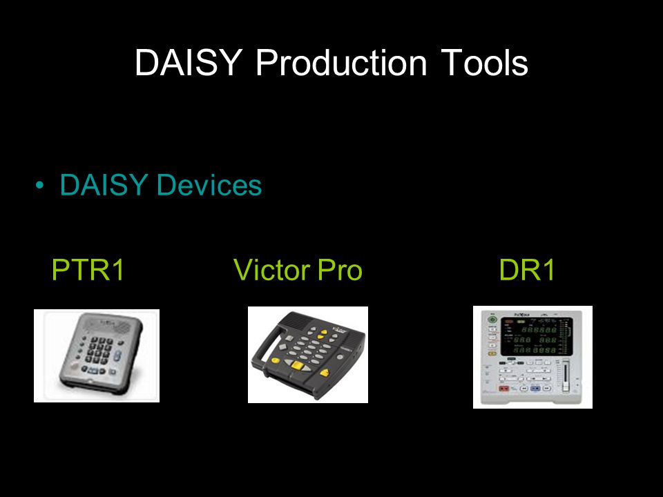 DAISY Production Tools DAISY Devices PTR1Victor ProDR1