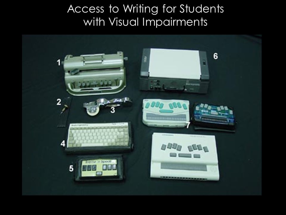Access to Writing for Students with Visual Impairments