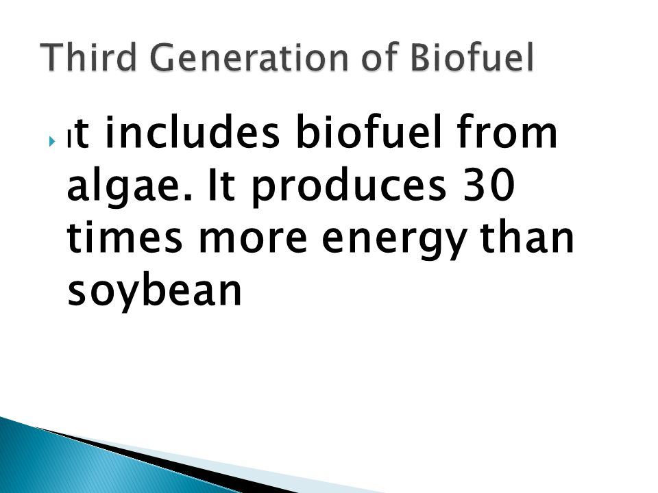  It is noteworthy that first generation biofuels are not sustainable  Hence it is necessary to create sustainable biofuel production with no effect on food production and environment.