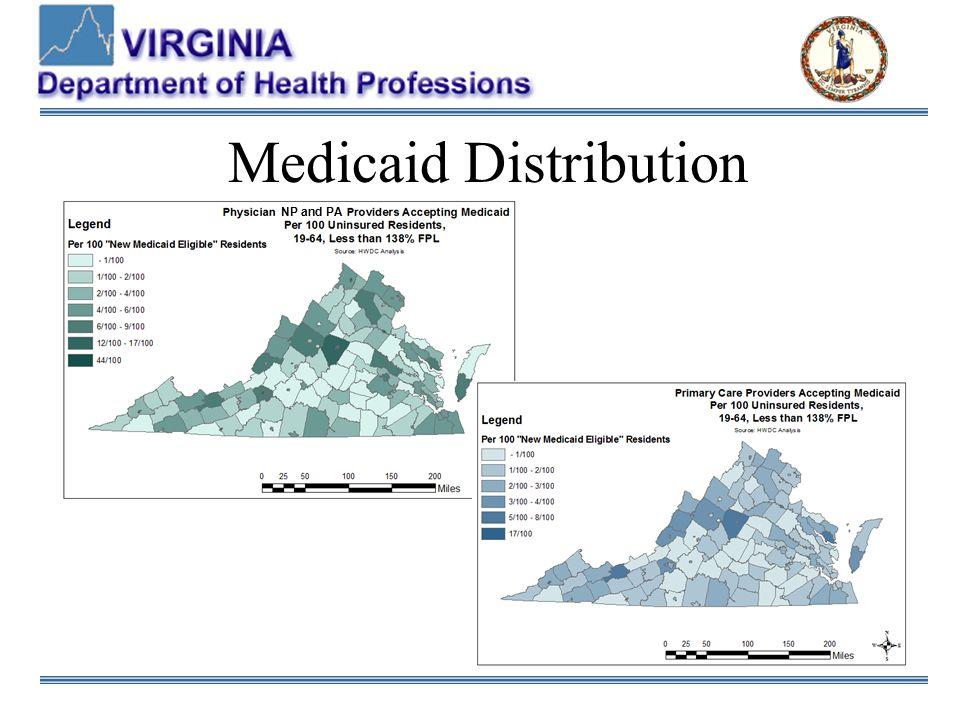 Medicaid Distribution NP and PA