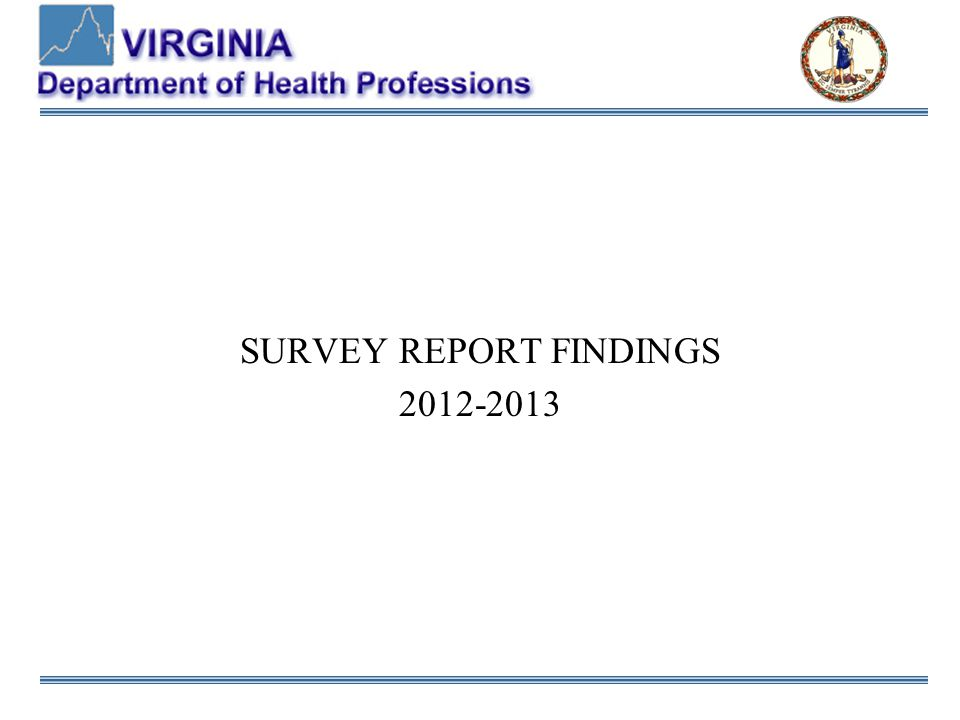 SURVEY REPORT FINDINGS 2012-2013