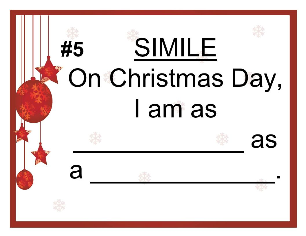 METAPHOR Santa Clause is a ___________. #6