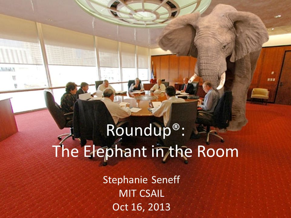 Roundup®: The Elephant in the Room Stephanie Seneff MIT CSAIL Oct 16, 2013