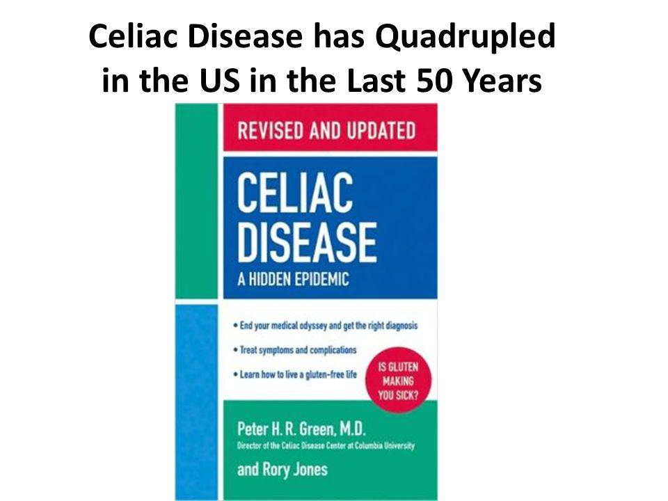 Celiac Disease has Quadrupled in the US in the Last 50 Years