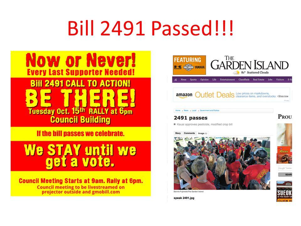 Bill 2491 Passed!!!