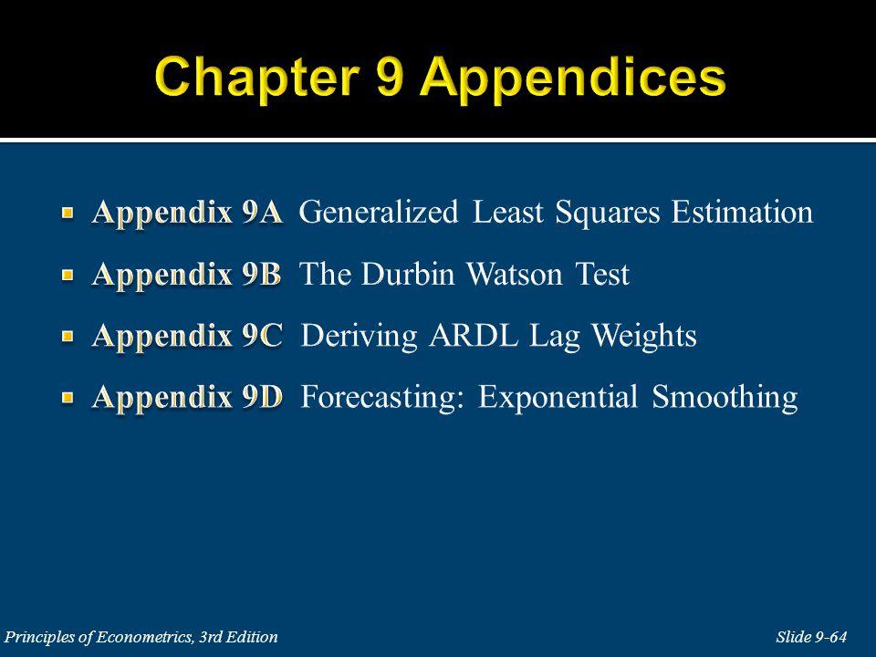 Slide 9-64 Principles of Econometrics, 3rd Edition
