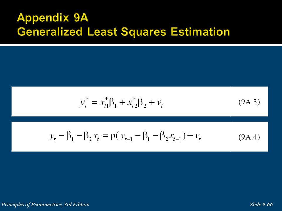 Slide 9-66 Principles of Econometrics, 3rd Edition (9A.4) (9A.3)