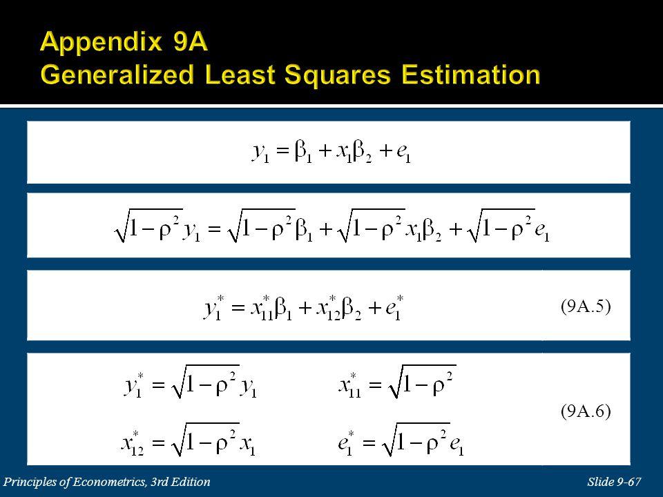 Slide 9-67 Principles of Econometrics, 3rd Edition (9A.5) (9A.6)