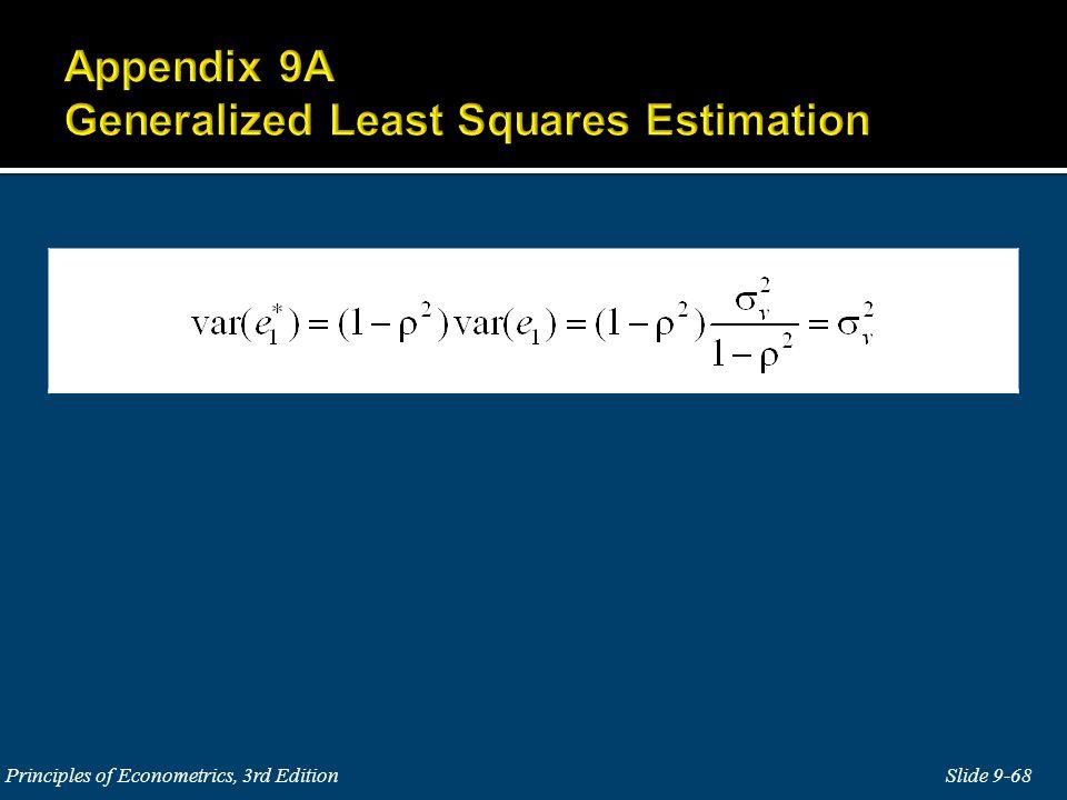 Slide 9-68 Principles of Econometrics, 3rd Edition