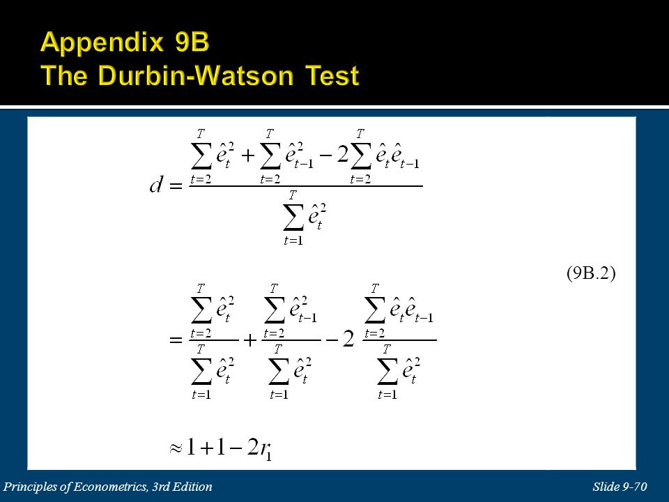 Slide 9-70 Principles of Econometrics, 3rd Edition (9B.2)