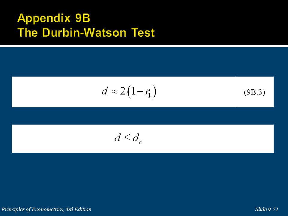 Slide 9-71 Principles of Econometrics, 3rd Edition (9B.3)