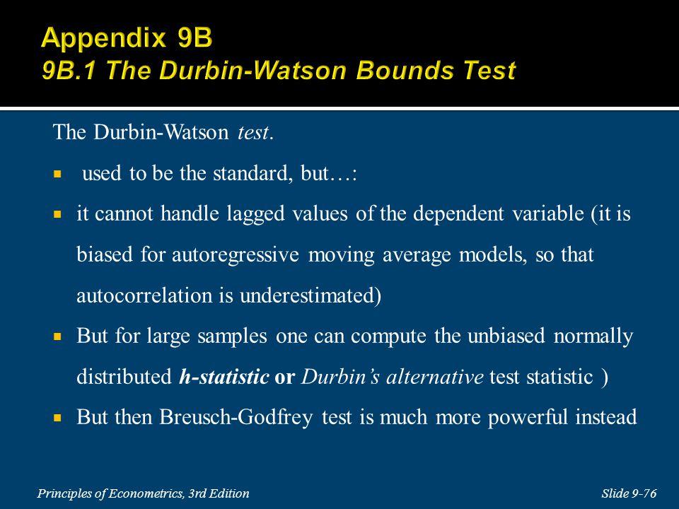 The Durbin-Watson test.