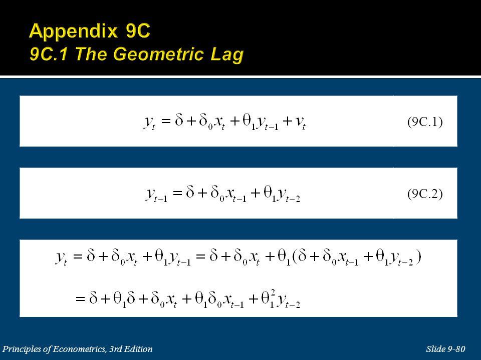 Slide 9-80 Principles of Econometrics, 3rd Edition (9C.2) (9C.1)