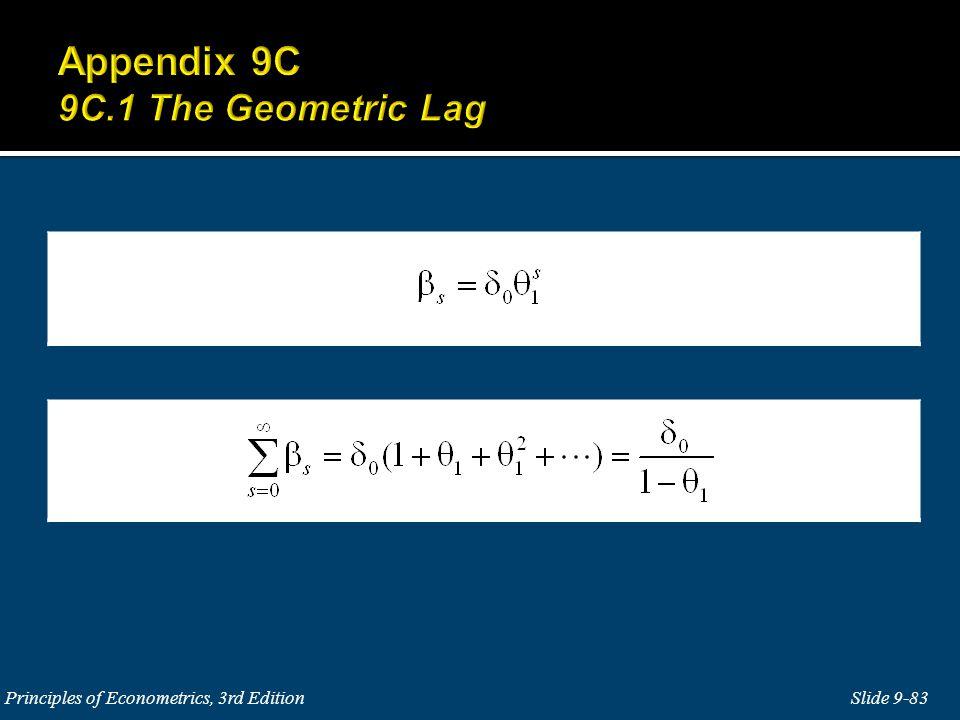 Slide 9-83 Principles of Econometrics, 3rd Edition