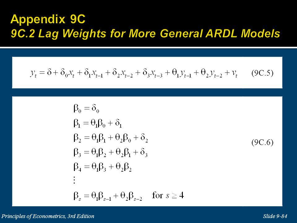 Slide 9-84 Principles of Econometrics, 3rd Edition (9C.6) (9C.5)