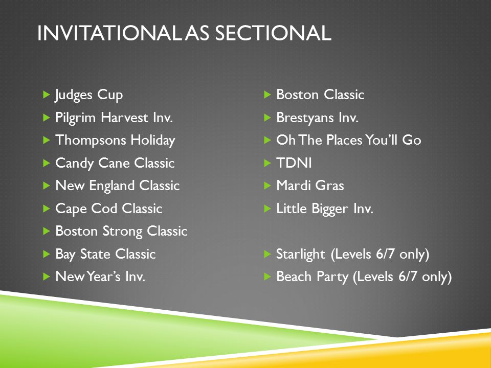 INVITATIONAL AS SECTIONAL  Judges Cup  Pilgrim Harvest Inv.