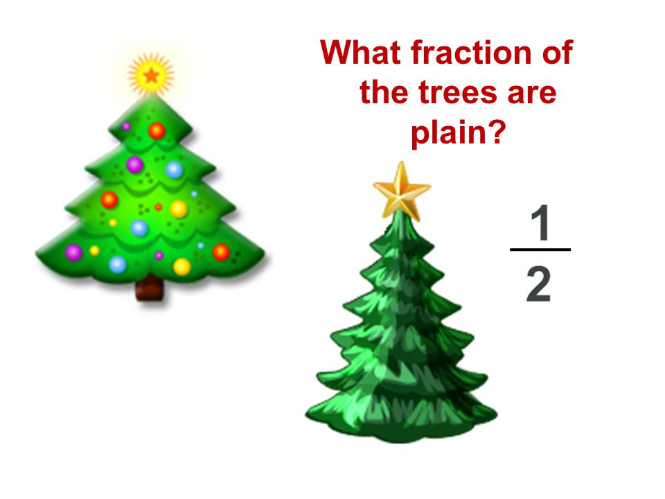 What fraction of the trees are plain?