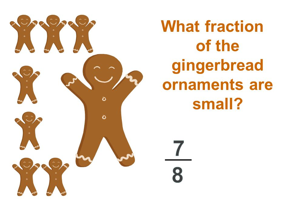 What fraction of the gingerbread ornaments are small?