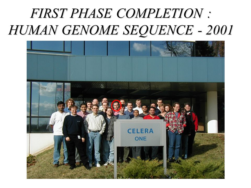 FIRST PHASE COMPLETION : HUMAN GENOME SEQUENCE - 2001