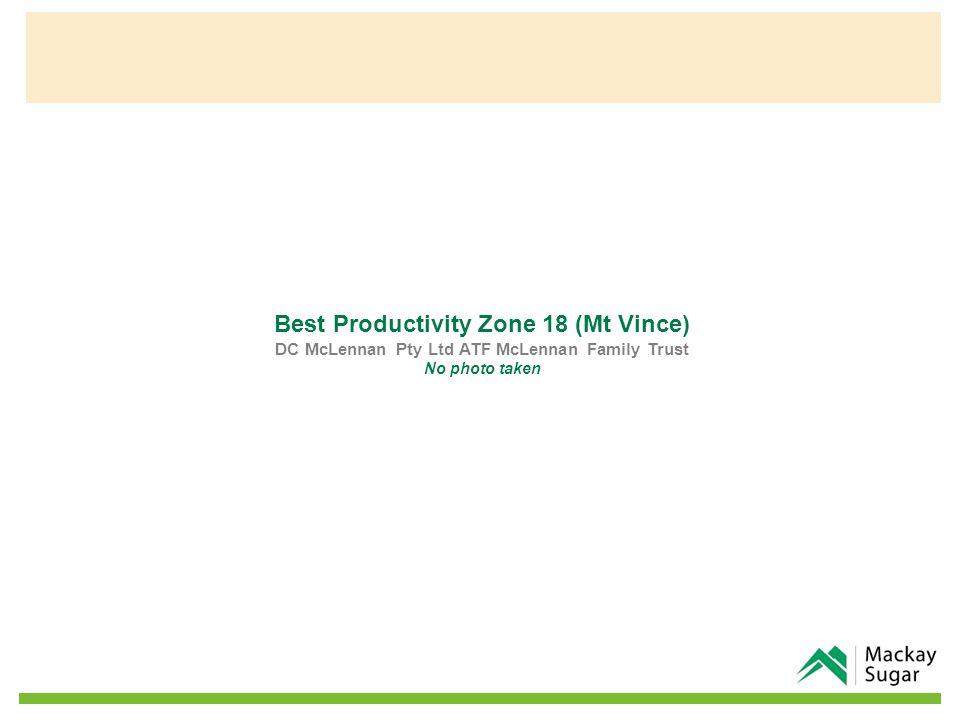 Best Productivity Zone 18 (Mt Vince) DC McLennan Pty Ltd ATF McLennan Family Trust No photo taken