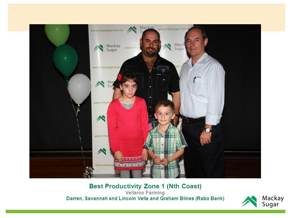 Best Productivity Zone 1 (Nth Coast) Vellaroo Farming Darren, Savannah and Lincoln Vella and Graham Blines (Rabo Bank)