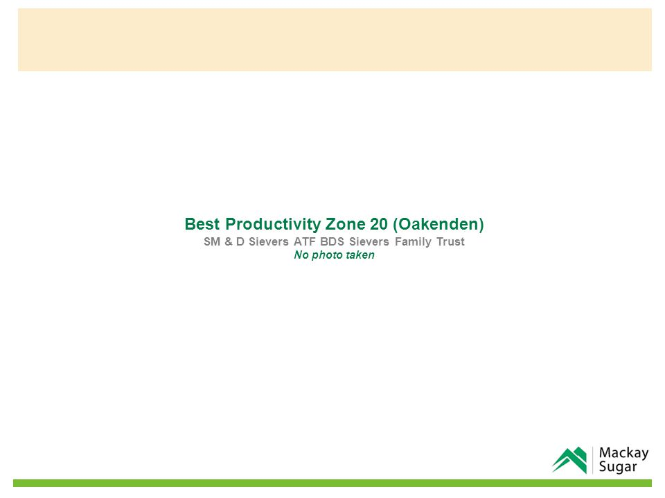 Best Productivity Zone 20 (Oakenden) SM & D Sievers ATF BDS Sievers Family Trust No photo taken