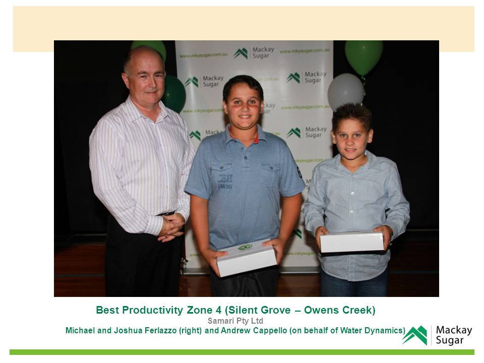 Best Productivity Zone 15 (Septimus – Pinevale) FM Agius Fred Agius (left) and Lou Pace (Landmark)