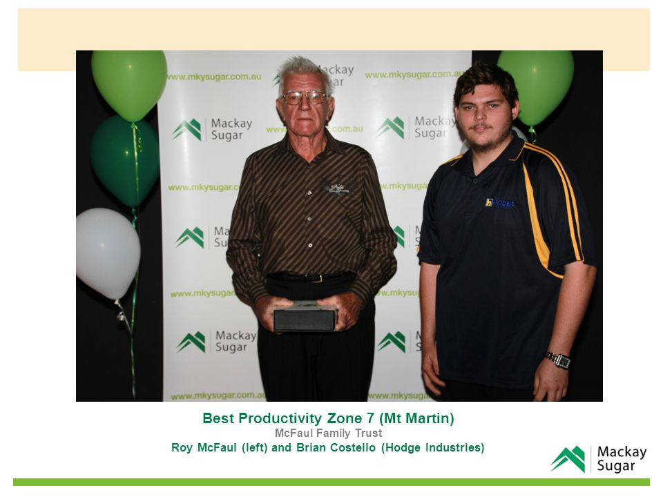 Best Productivity Zone 8 (Devereaux – Nabilla) EJ & KV Bugeja Family Trust Manny, Nathan and Rebecca Bugeja (right) and Andrew Cappello (on behalf of ACE Marian)