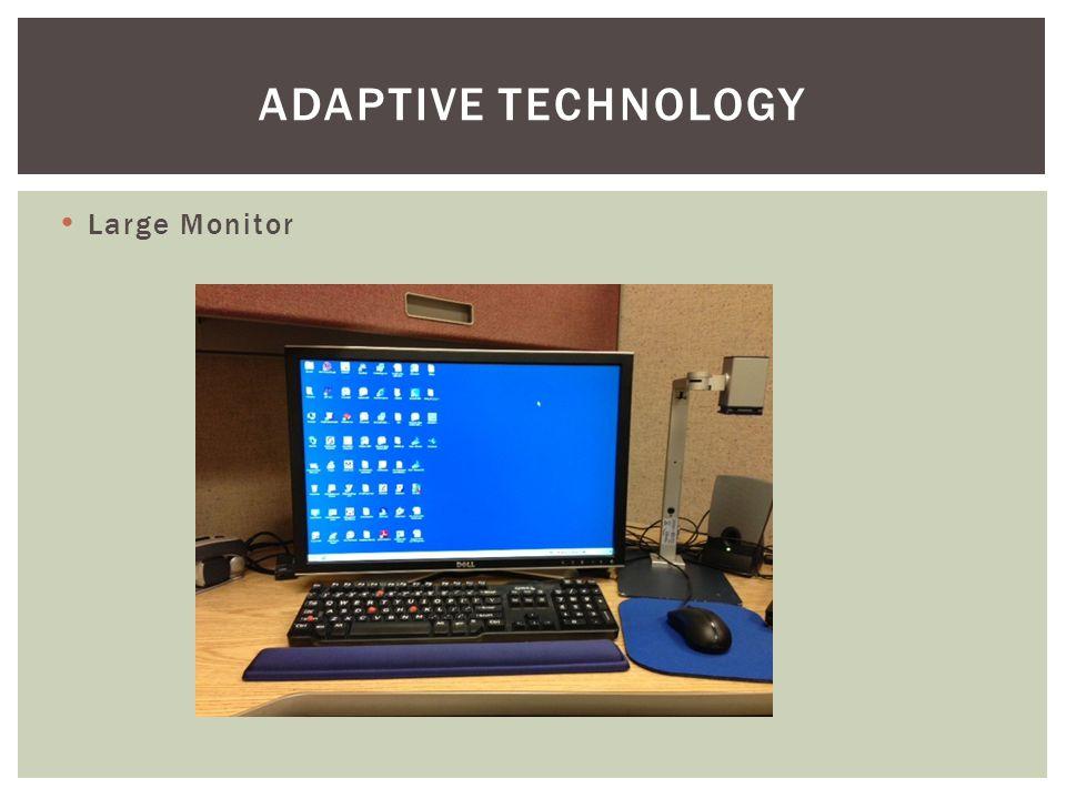 Large Monitor ADAPTIVE TECHNOLOGY