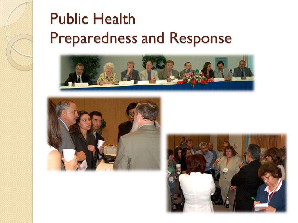 Public Health Preparedness and Response