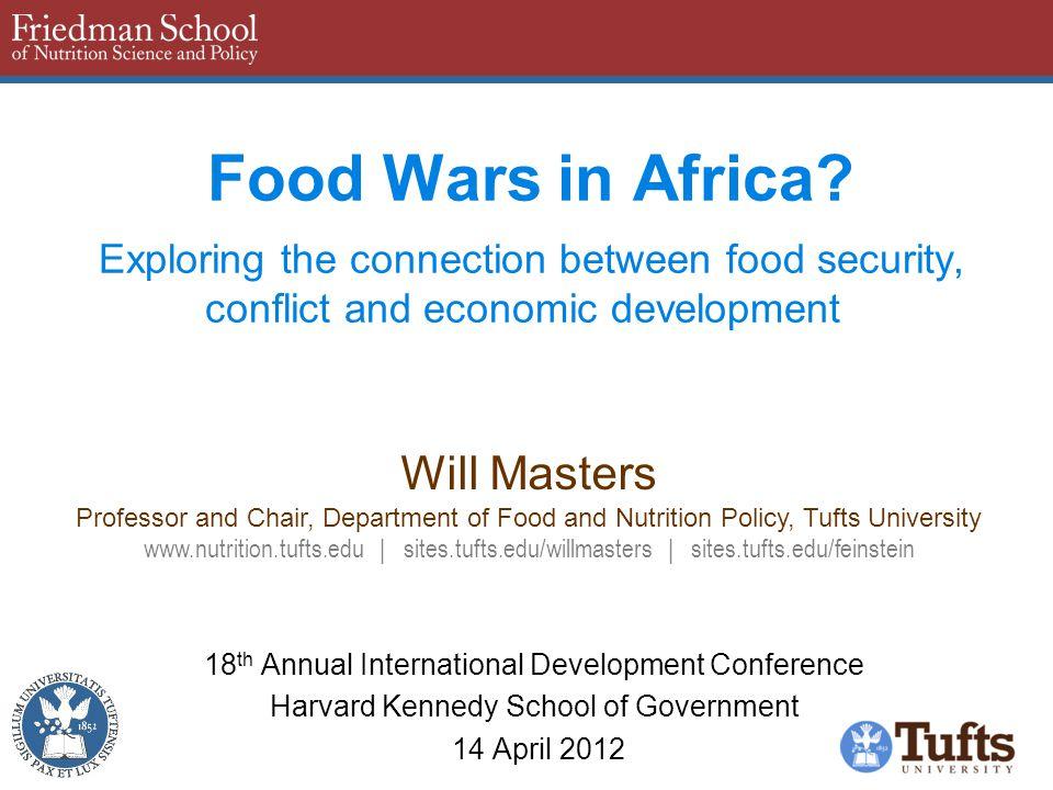 Food Wars in Africa.