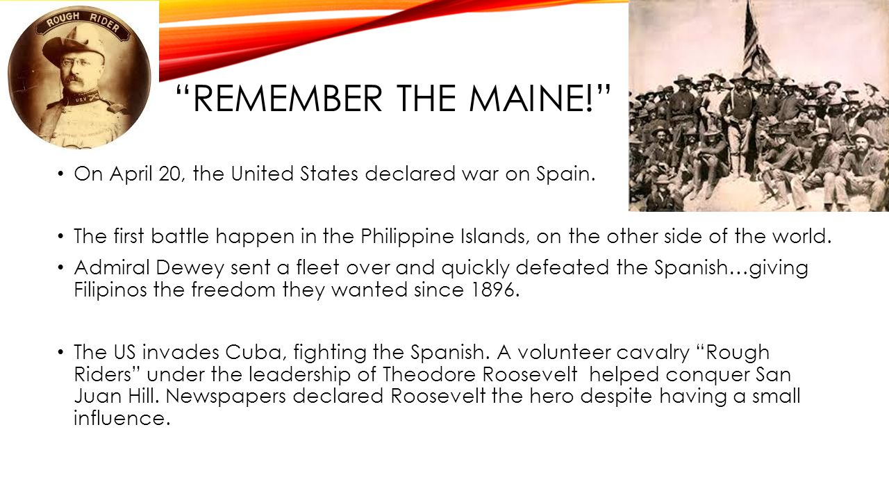 TREATY OF PARIS The US and Spain signed an armistice (peace agreement) after only 16 weeks of war.