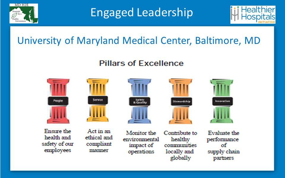 Engaged Leadership University of Maryland Medical Center, Baltimore, MD
