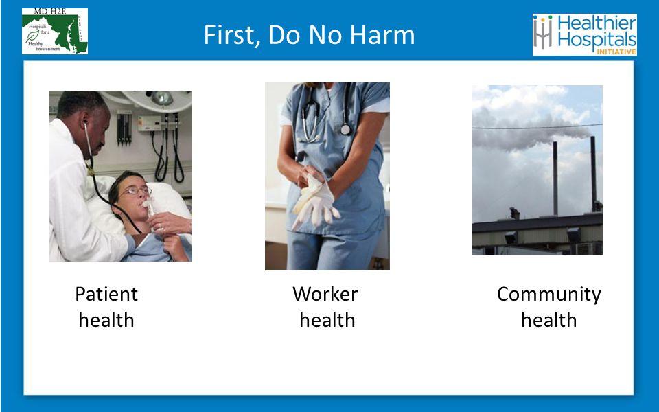 Community health Patient health Worker health First, Do No Harm