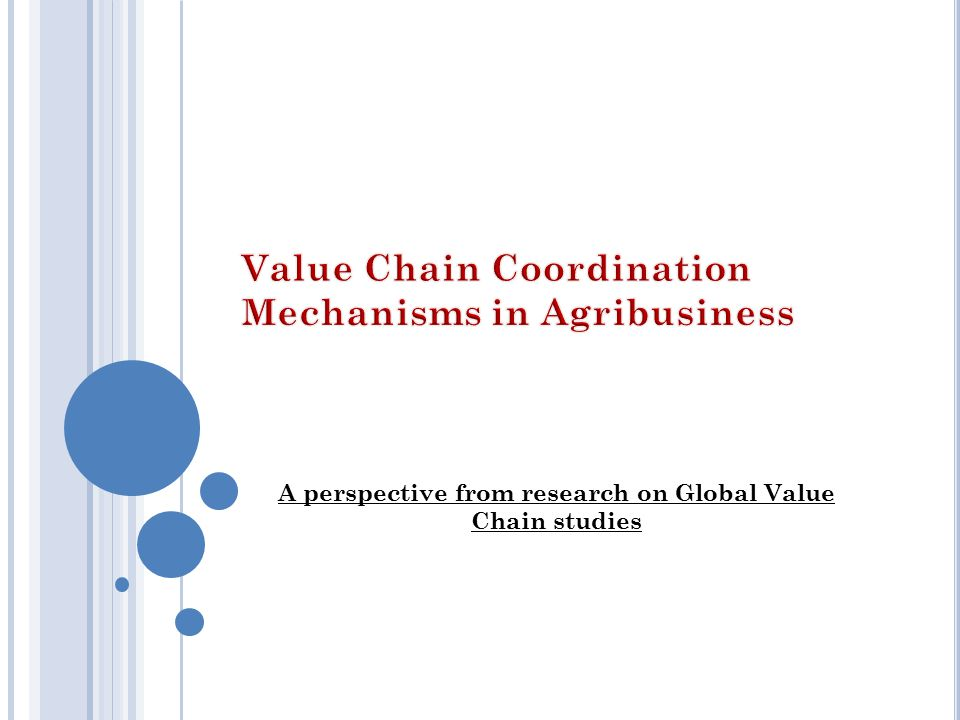 A perspective from research on Global Value Chain studies