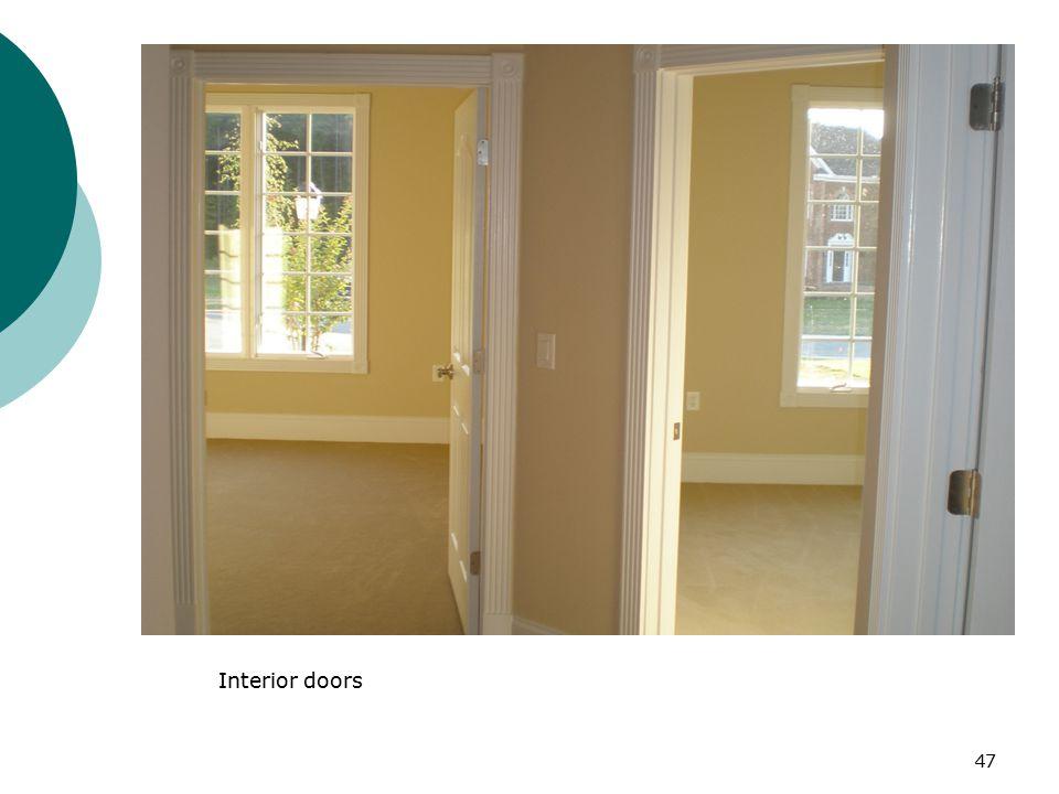 Interior doors 47