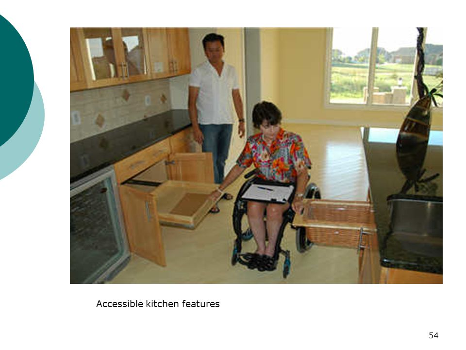 Accessible kitchen features 54