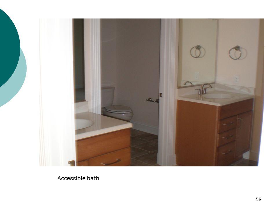 Accessible bath 58