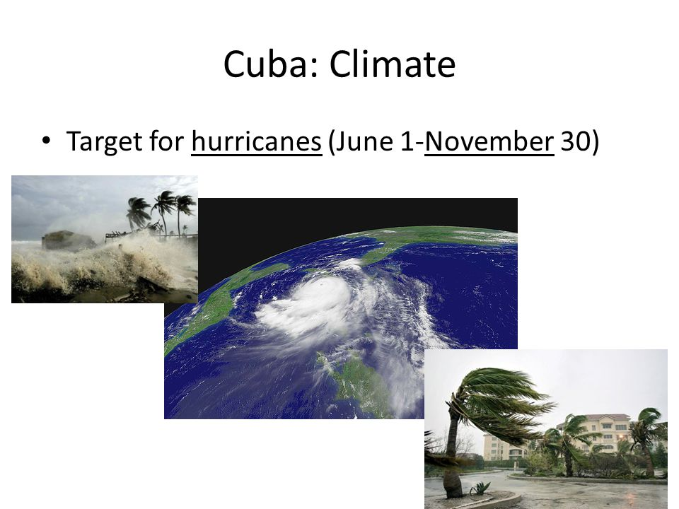 Cuba: Climate Target for hurricanes (June 1-November 30)