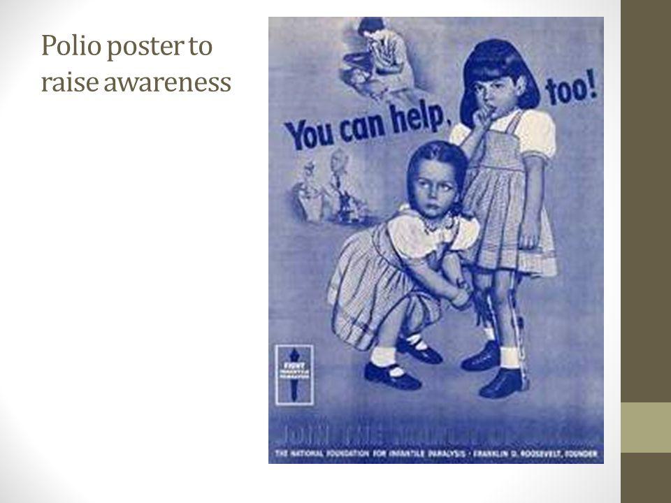 Polio poster to raise awareness