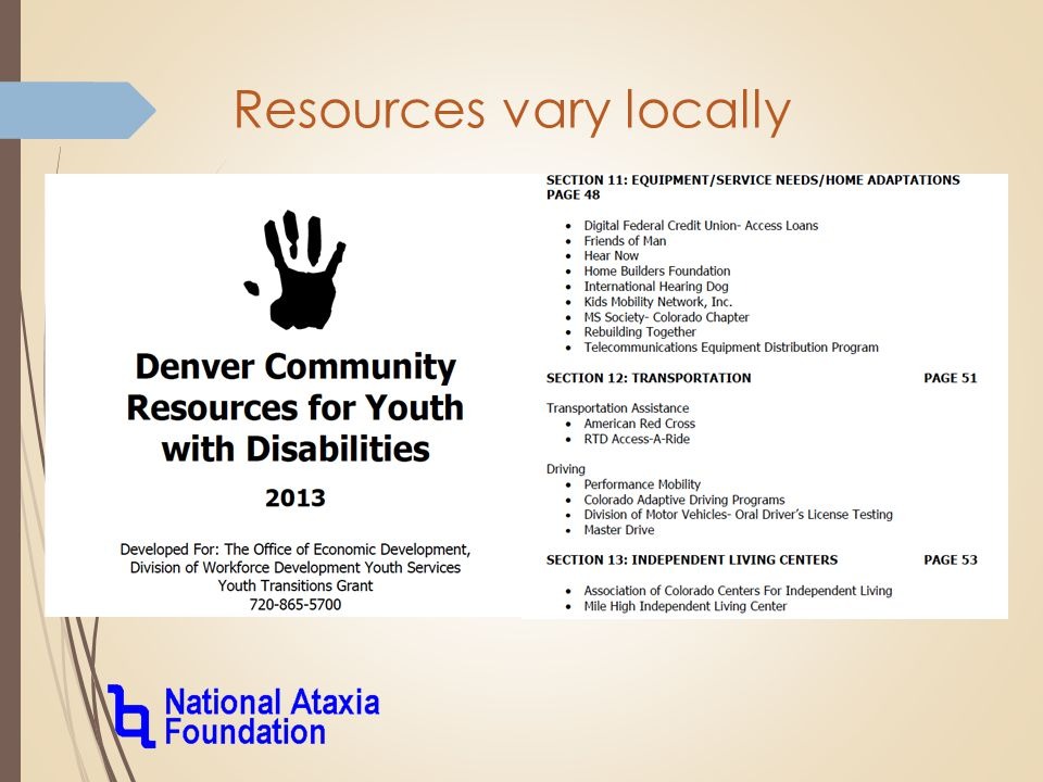 Resources vary locally