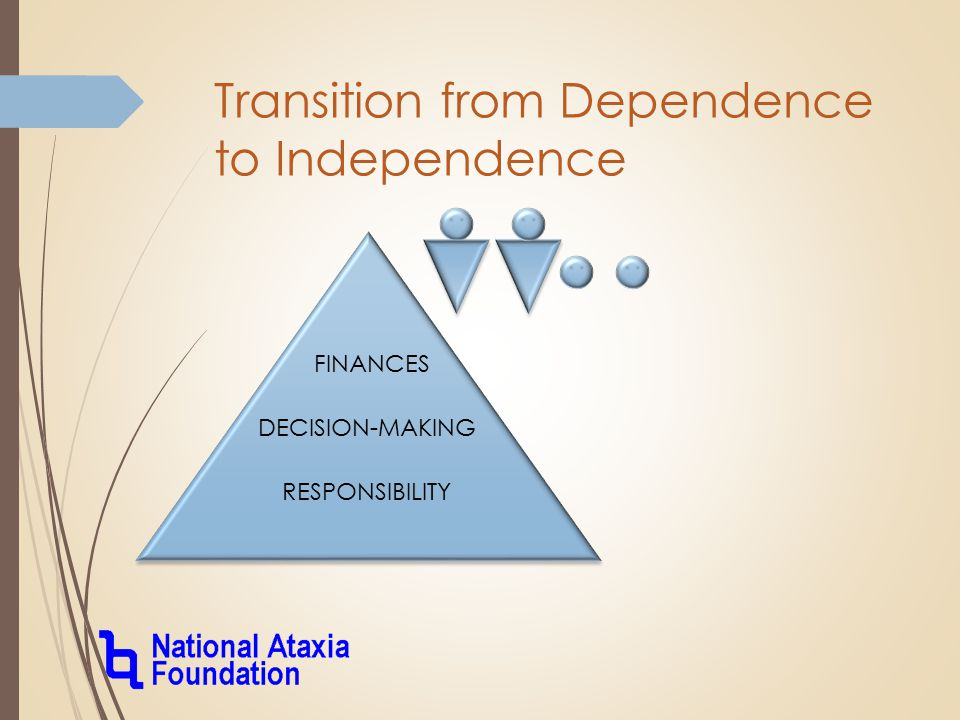 FINANCES DECISION-MAKING RESPONSIBILITY Transition from Dependence to Independence